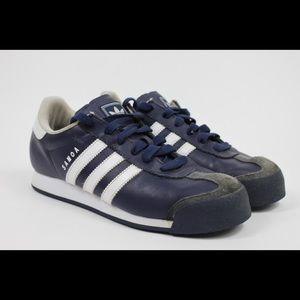 Adidas Mens Samoa Retro Casual Sneakers Navy Sz 7